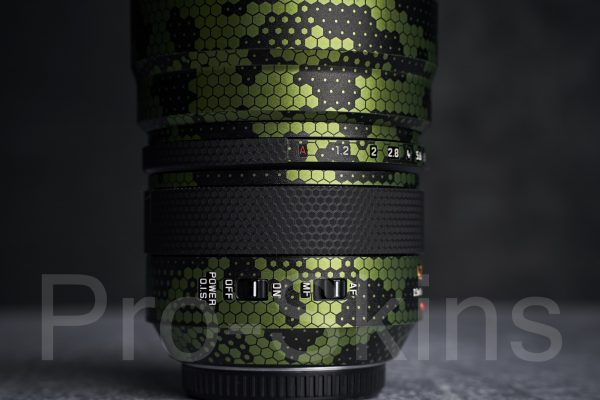 Pro-Skins Protective Lens Guard Wrap Digital Green Snake Skin for Panasonic Leica DG Nocticron 42.5mm f/1.2 ASPH. POWER O.I.S. Lens for M4/3