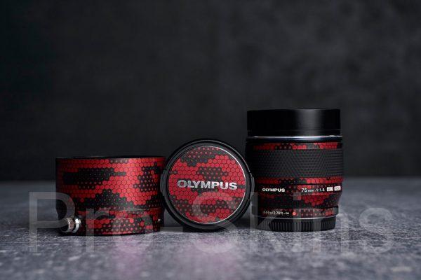Pro-Skins - Olympus M.Zuiko Digital ED 75mm f/1.8 Lens for M4/3 - Protective Lens Guard Wrap
