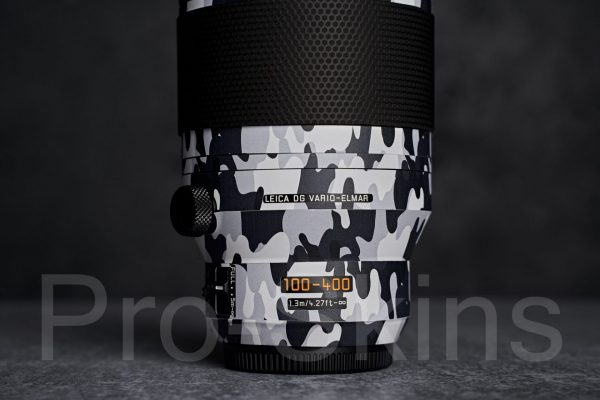 Panasonic LUMIX G Leica DG 100-400mm F/4-6.3 Telephoto Lens for M4/3 - Protective Lens Guard Camouflage Wrap Skin